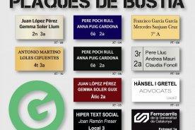 Plaques de Buzon - Plaques de negoci